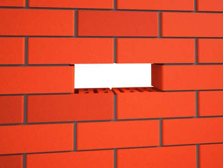 foundation cracks: Brick wall  Stock Photo