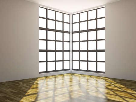 big windows: The big room with a big windows