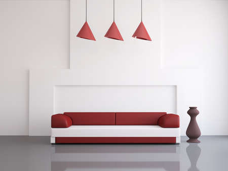 jetset: Interior of a room with an leather sofa