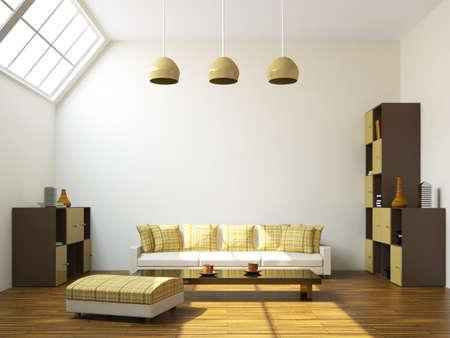 The room with a sofa and a shelfs Stock Photo - 14918199