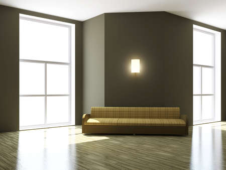 Sofa  near the big window of the room Stock Photo - 15523281