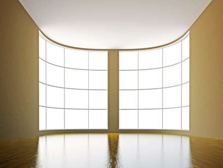 A large hall with a big window Stock Photo - 15651267