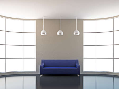 lounge: The leather sofa near the big window
