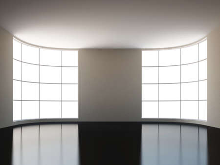 A large hall with a big window Stock Photo - 15870914