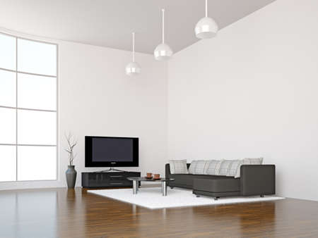 A room inter with a TV set Stock Photo - 15870917