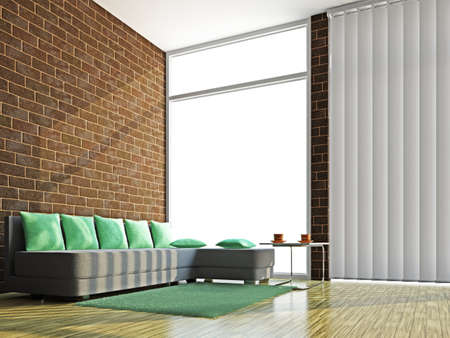 A room interior with sofa and table Stock Photo - 15978760