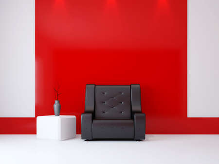 A room interior with a armchair near the wall Stock Photo - 16430061