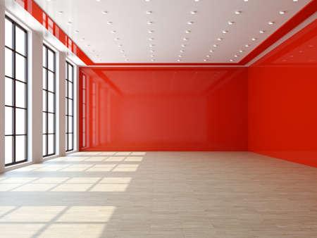 commercial real estate: Un gran sal�n con una ventana grande