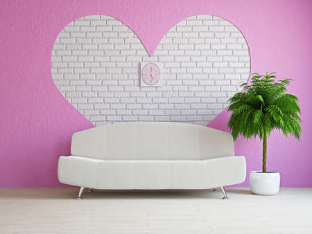 A romantic room with a sofa near the wall Stock Photo - 17439485