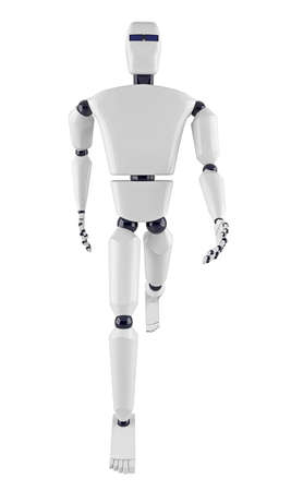 The metal robot on a white background Stock Photo - 17742760