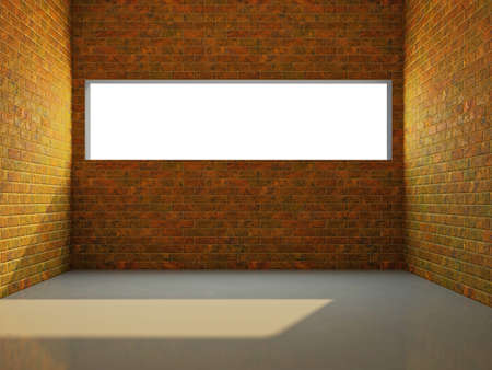Empty room with brick wall and a window Stock Photo - 17742764