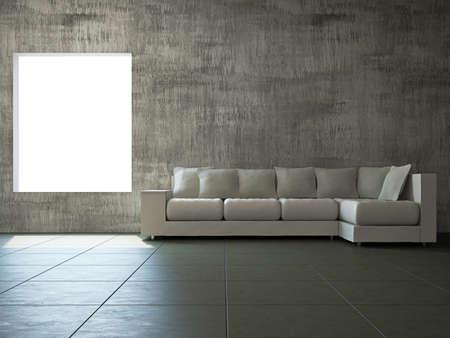 Livingroom with sofa  near the old wall Stock Photo - 17742799