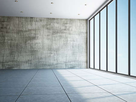 Empty room with old wall and a window Stock Photo - 17742804