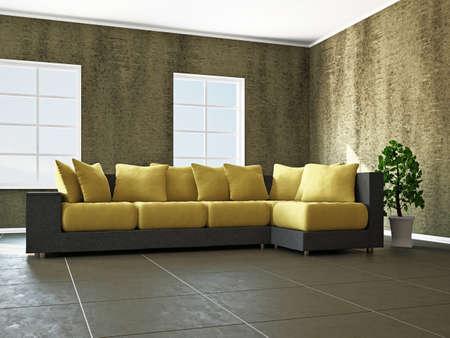 Livingroom with furniture  near the window Stock Photo - 18009071