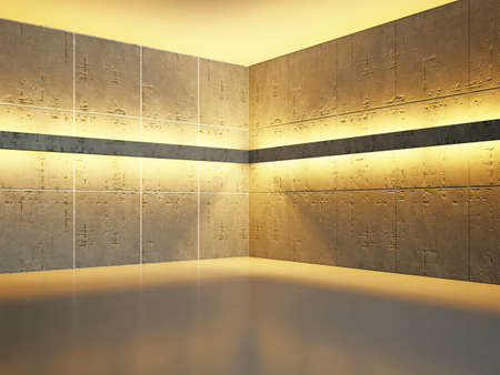 The old concrete wall with bright lighting Stock Photo - 18339531