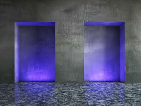 The old concrete wall with bright lighting Stock Photo - 18428346