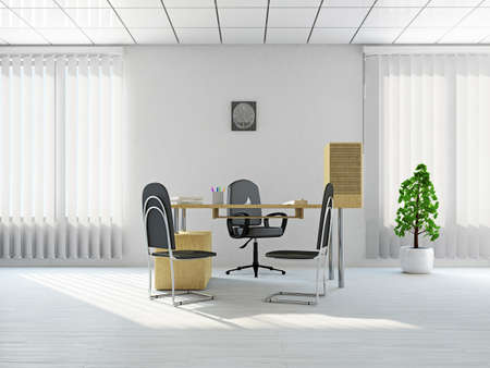 interior design office: Reception with a table near a window