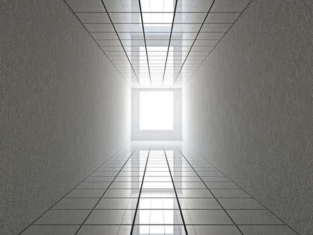 A long corridor with a glass floor Stock Photo - 18850658