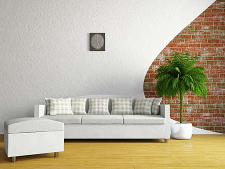 board room: Livingroom with sofa near the wall