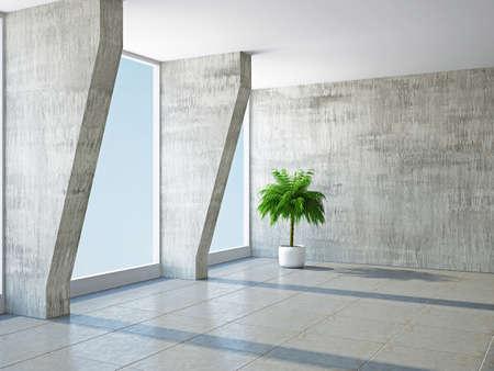 열 및 창문 큰 홀