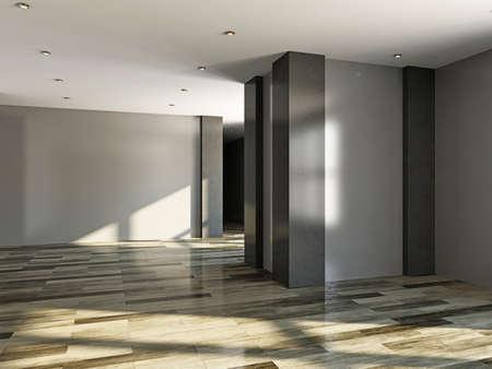 석고 벽 빈 방
