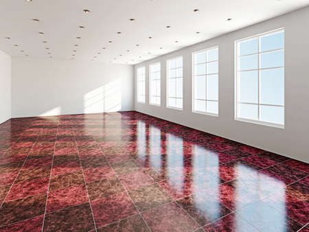 commercial real estate: The big room with a panoramic  window