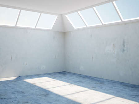 The room with the old concrete walls photo