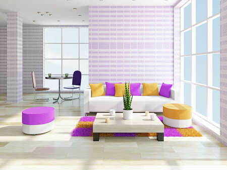 interior design living room: Livingroom with a sofa and a table near a window