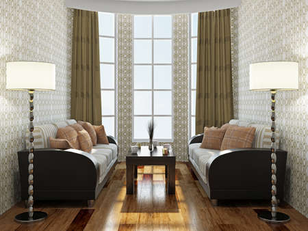 Two sofas and table in the room Stock Photo - 22252176