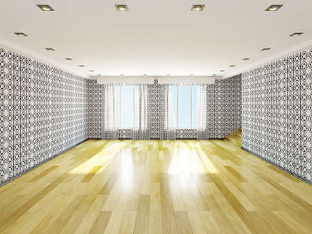 The big empty room with windows Stock Photo - 22989645