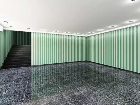 The big empty room with windows Stock Photo - 22991068