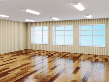 The big empty hall with windows Stock Photo - 22991069