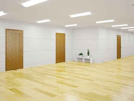 The big empty hall with doors Stock Photo - 22991074