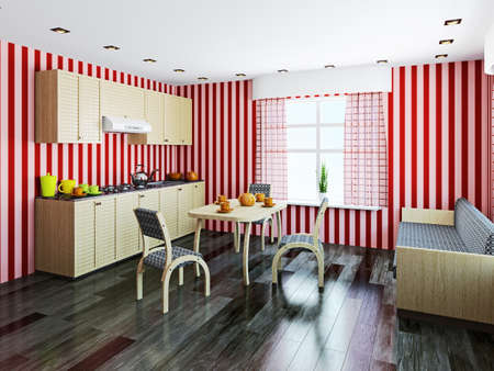 Kitchen inter with furniture and a window Stock Photo - 22991708