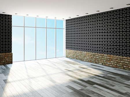 The big empty room with window Stock Photo - 23196280