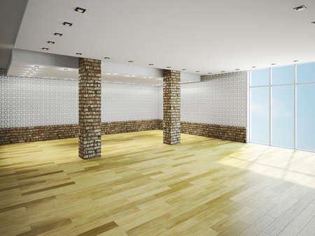 The big empty room with window Stock Photo - 23198199