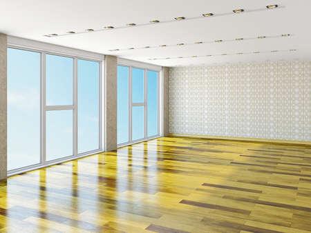 The big empty room with window Stock Photo - 23198202