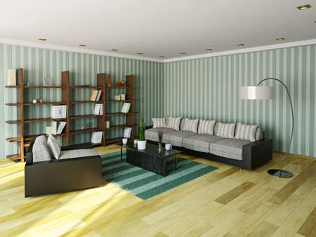 Sofa and armchair in the livingroom