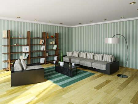거실에 소파와 안락 의자 스톡 콘텐츠