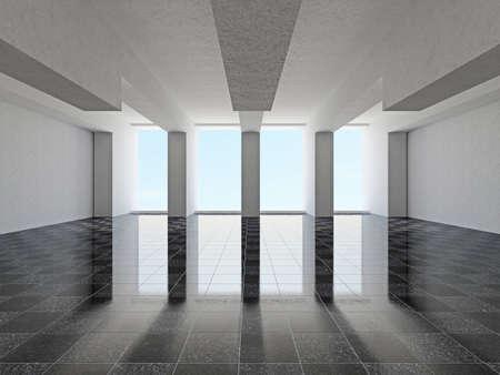 lighting column: A large hall with windows