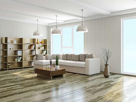 거실에있는 소파와 테이블