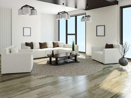 소파와 거실의 안락 의자