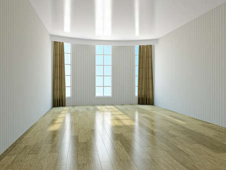 laminate: The empty room with windows