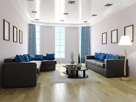 Sofas and table in the livingroom  Stockfoto