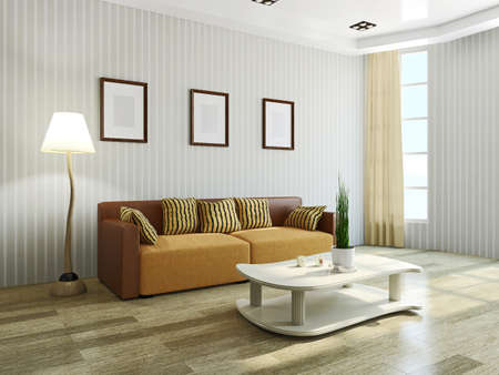 Sofa and table in the livingroom