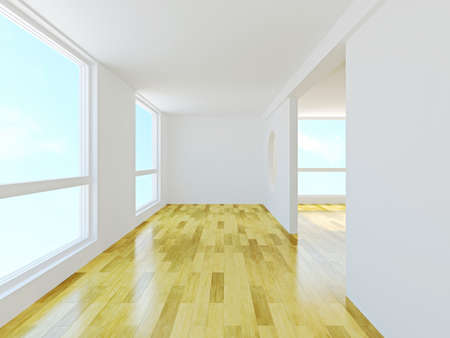 Interior room with white walls photo