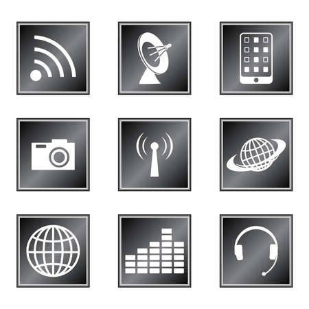 Set of icons on white background Vector