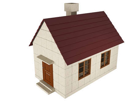 toy house: Small house on white background