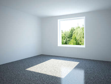 Empty room with window photo