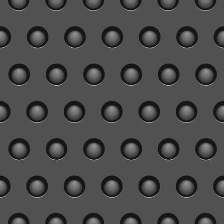 Seamless metallic texture with holes Vector